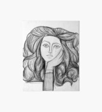 FRANCOISE 1946 : Vintage Abstract Charcoal Print Art Board