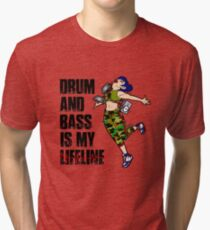 D&B Its My Lifeline (Camo Girl w/ Black Text) Tri-blend T-Shirt