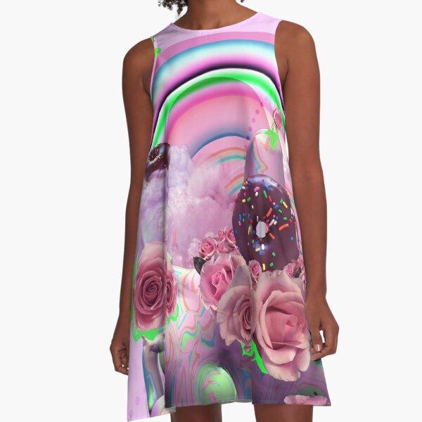 Strawberry Milk Bubbles A-Line Dress