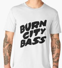 Burn City Bass (Black) Men's Premium T-Shirt