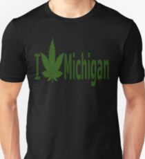 0220 I Love Michigan  Unisex T-Shirt