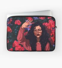 Red Flowers Girl Laptop Sleeve