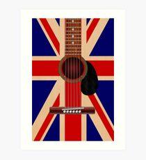Union Jack Guitar Art Print