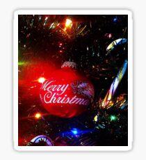 Merry Christmas Happy Holidays Sticker