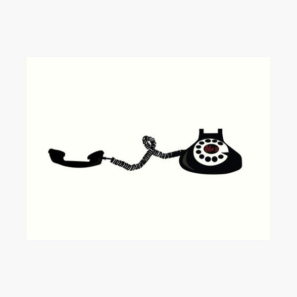 Retro phone 2  Art Print