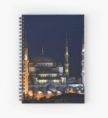 Blue Mosque at Night Spiral Notebook