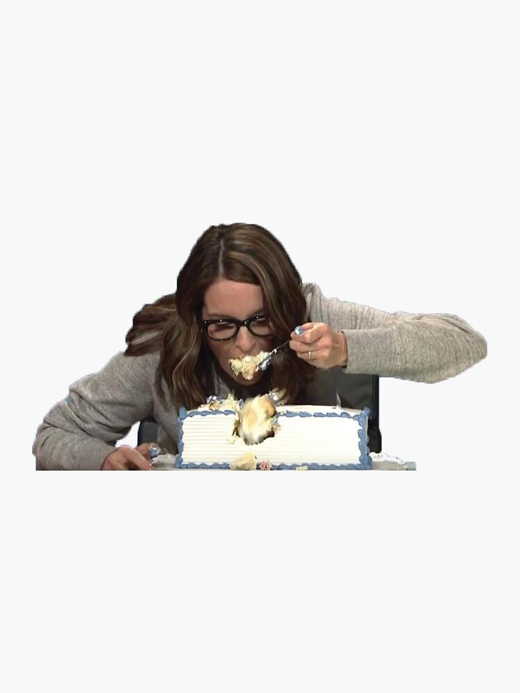 Tina Fey, die Kuchen isst von madisonrose13