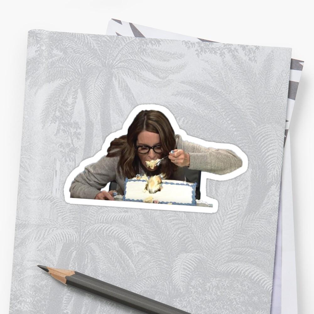 Tina Fey, die Kuchen isst Sticker