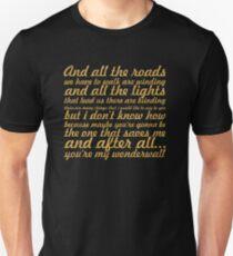"""Oasis... """"Wonderwall"""" Song Lyric T-Shirt"""