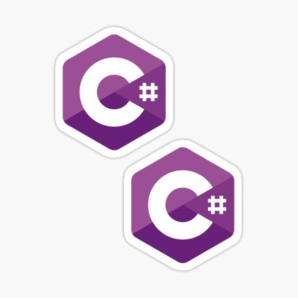 C# x2 Sticker