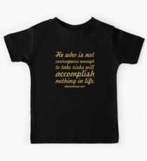 """He who is not... """"Muhammad Ali"""" Inspirational Quote Kids Tee"""