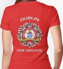 Dublin Fire Brigade Women's Fitted V-Neck T-Shirt