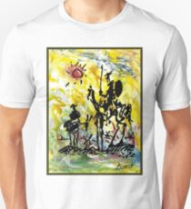DON QUIXOTE : Vintage Abstract Painting Print Unisex T-Shirt
