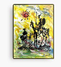 DON QUIXOTE : Vintage Abstract Painting Print Metal Print