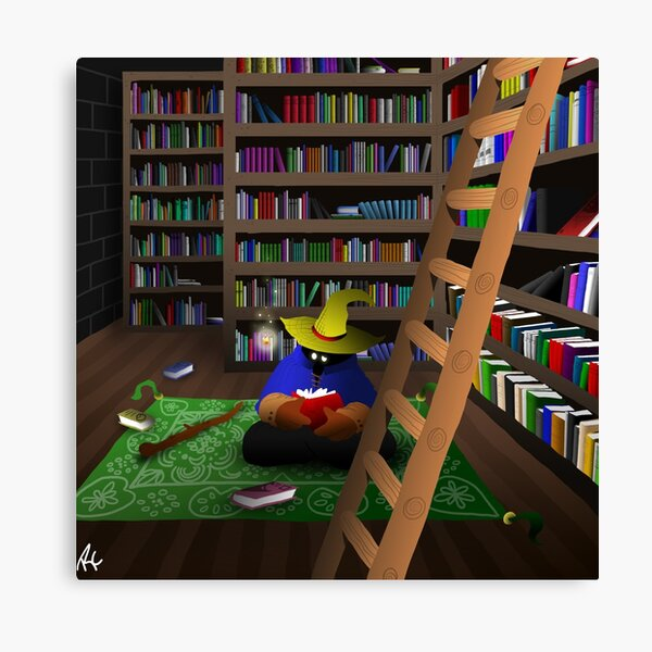 Black Mage in Library Canvas Print