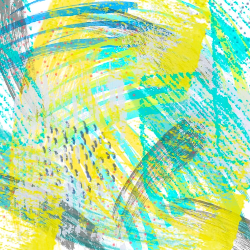 Abstract yellow green pattern by LoraSi