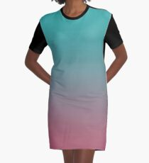 Blue pink Ombre #Blue #pink #Ombre  Graphic T-Shirt Dress