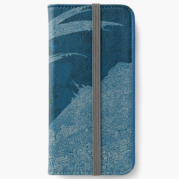 Crazy Blue Design iPhone Wallet