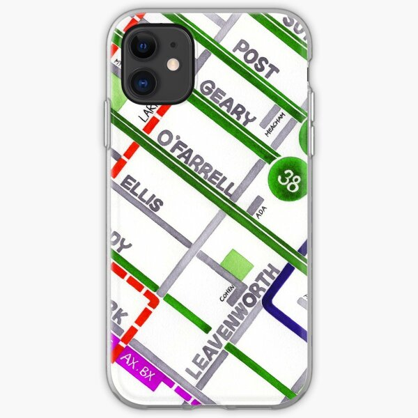 San Francisco map - Tenderloin iPhone Soft Case