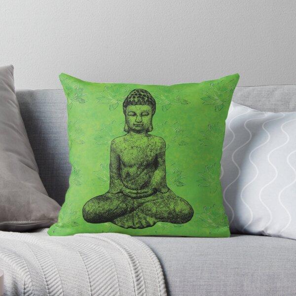 Earth Buddha Throw Pillow
