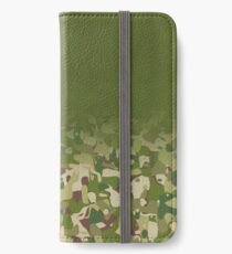 Smoky military camouflage iPhone Wallet