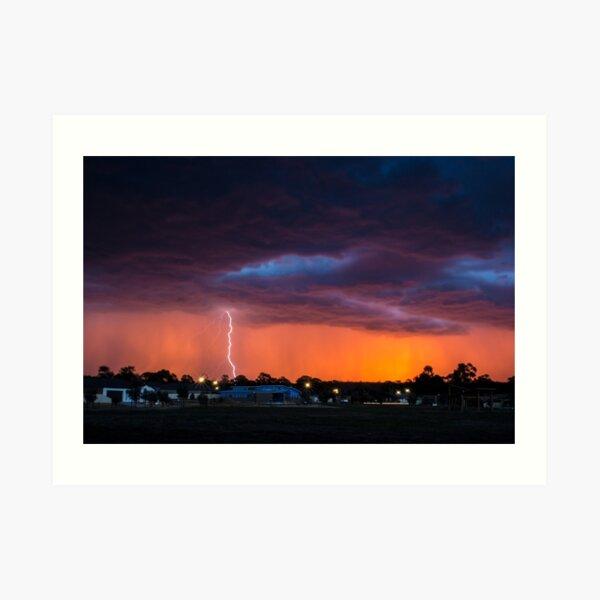 Lightning Sunset Art Print