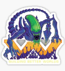 Building Better Worlds - Aliens Sticker