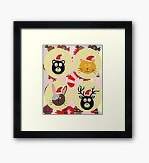 Christmas Animals  Framed Print