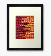 Abstract Pixel Design Framed Print