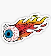 Flaming Eyeball Sticker