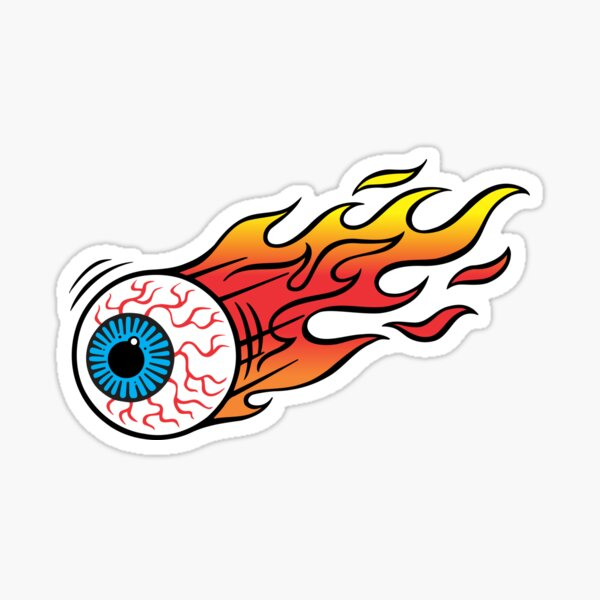 Flammender Augapfel Sticker
