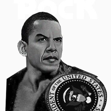 Da Rock Obama Presidential Title (White Font) by bluelabel