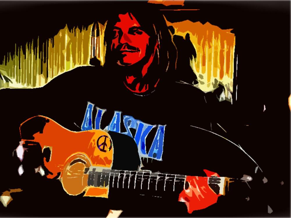Alaskaman playin' the guitar. by alaskaman53