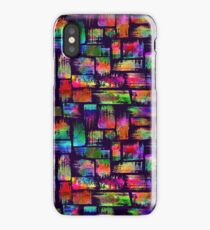 Rainbow watercolor print with brush strokes iPhone Case/Skin