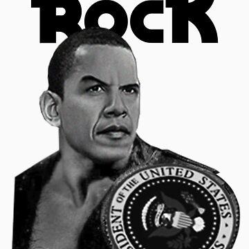 Da Rock Obama Presidential Title (Black Font) by bluelabel