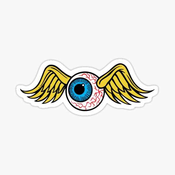 Flying Eyeball Sticker