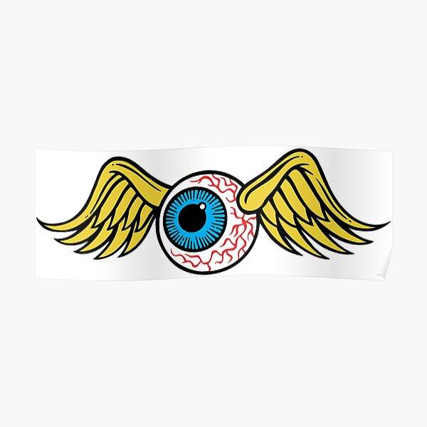 Flying Eyeball Poster