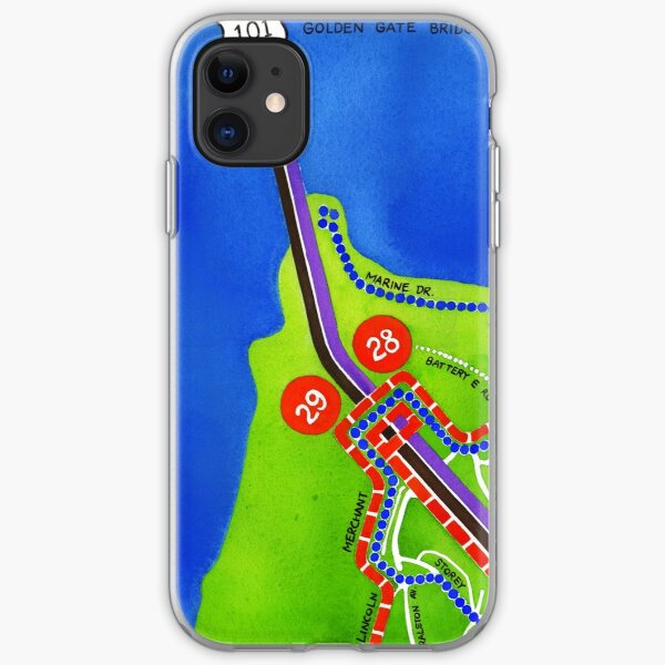 San Francisco map - Presidio iPhone Soft Case