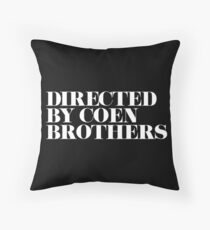 Directed by Coen Brothers Throw Pillow