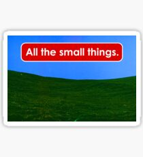 All the small things Sticker
