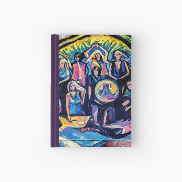 Create freely colorful contemporary artwork  Hardcover Journal