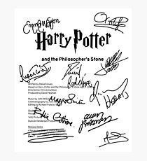Harry Potter Script Photographic Print