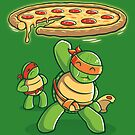Delicious Disk Attack - Ninja Turtles by TrulyEpic