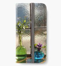 Little Bottles Sitting in the Window iPhone Wallet/Case/Skin