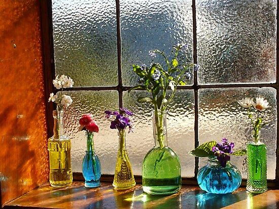 Little Bottles Sitting in the Window by Gabrielle  Lees