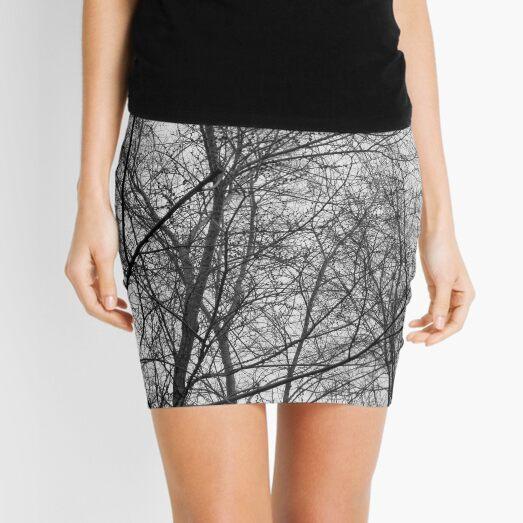 Monochrome Nature Photograph Mini Skirt