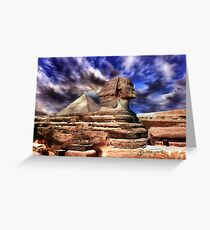 Giza's mighty sphinx  Greeting Card