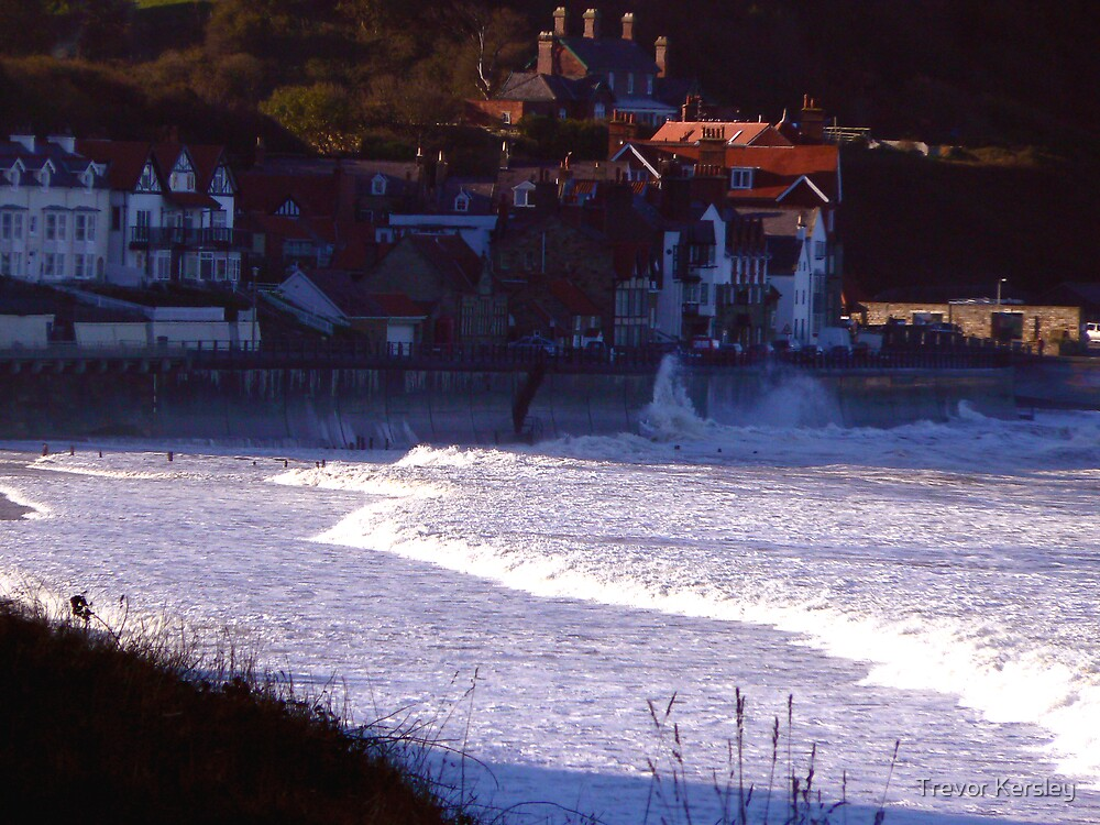 Sea Front Sandsend by Trevor Kersley