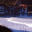 Sea Front Sandsend by Trevor Kersley