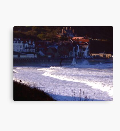 Sea Front Sandsend Canvas Print